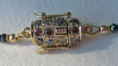 Rhapsody with 18kt Yellow Gold Clasp with Natural Fancy Brown Diamonds
