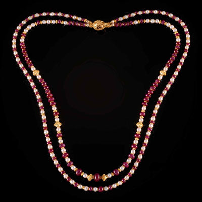 Ruby Float Necklace