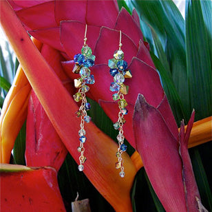 Seascape Trickle Crystal Earrings