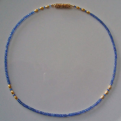 Tanzanite Necklace with 22kt Gold