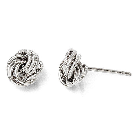 Leslie's Petite Love Knot 14K WG Post Earrings / Arpaia Jewelry