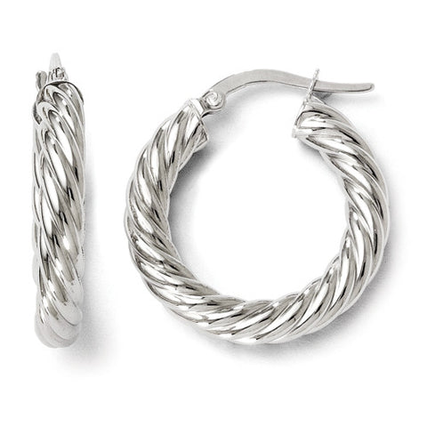 Leslie's Wreath 14K White Gold Hoops / Arpaia
