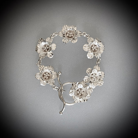 Arpaia Jewelry / In Full Bloom Fine Silver Bracelet