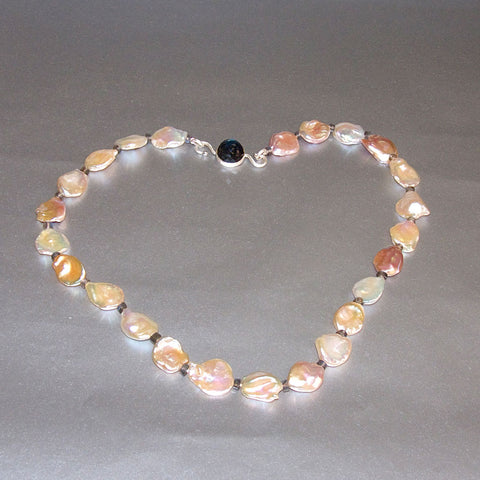 """Floating Petals"" Pink Keshi Pearl Necklace / Arpaia Lang"
