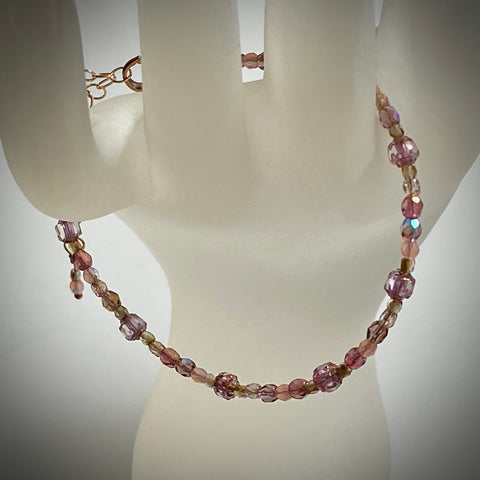 """Burnished Rose"" Bracelet from Arpaia Brilliant Lights Glass Collection"