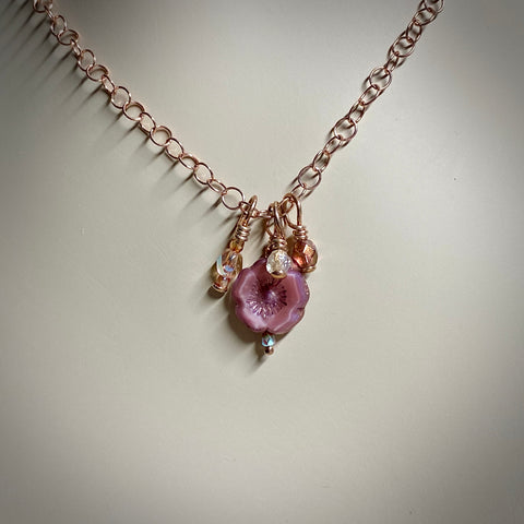 "Arpaia ""Burnished Rose"" Trinket Necklace"