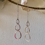 Sterling Silver Lightweight & Fluttery Long Dangle Earrings from Italy