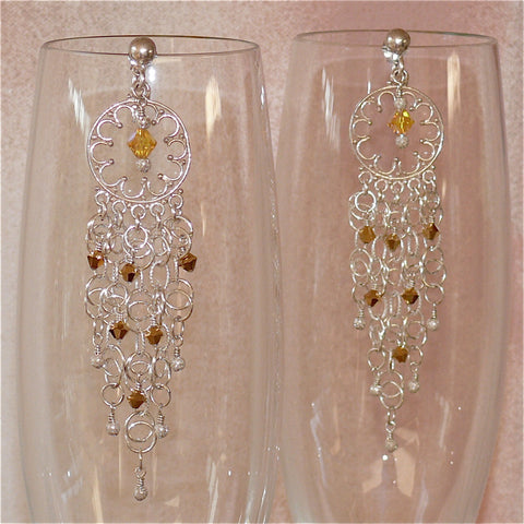 "Arpaia ""Crystal Sunrise"" Chandelier Earrings"