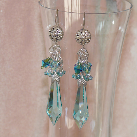 "Arpaia ""Ocean"" Chandelier Earrings"
