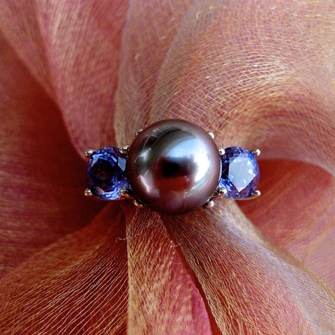 Lavender Symphony Saltwater Pearl Ring C