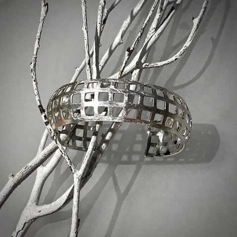 Open Squares Sterling Cuff Bracelet Arpaia Jewelry