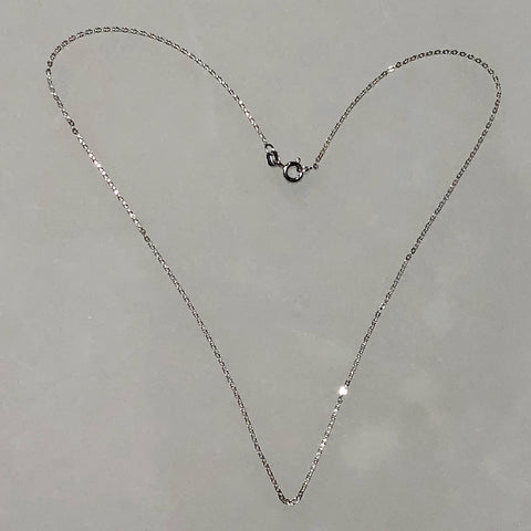 Italian sterling silver cable chain with spring ring clasp