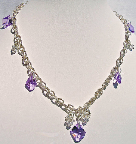 Violet Horizon one of a kind necklace by Arpaia