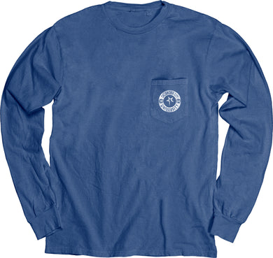 Blue 84 Dyed Ringspun Long Sleeve W/Pocket, Royal
