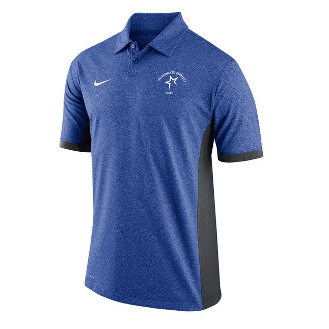 Nike Men's Victory Block Polo, Royal Heather