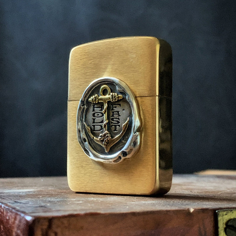 PRE SALE - HOLD FAST Wax Seal 1941 Zippo Lighter - Brass anchor / sterling wax seal
