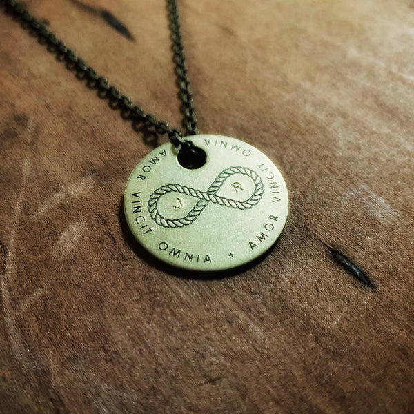 Custom Initials Infinity Knot Necklace