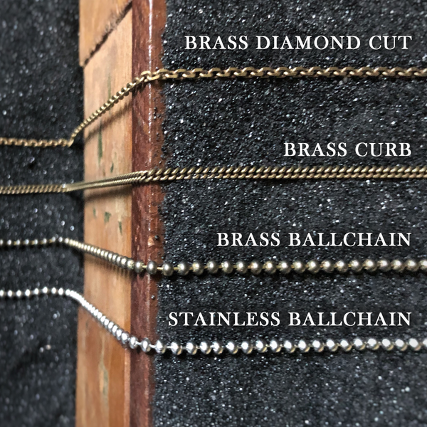 GIVE A DAMN - Brass Block Necklace