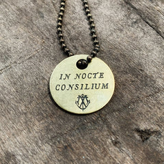 "IN NOCTE CONSILIUM Coin Necklace - ""Sleep On It"""