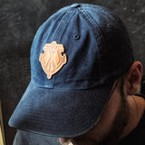 Leather Patch Hat - Natural Leather Maritime Logo