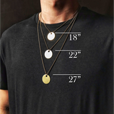 GIVE A DAMN - Brass Coin Necklace