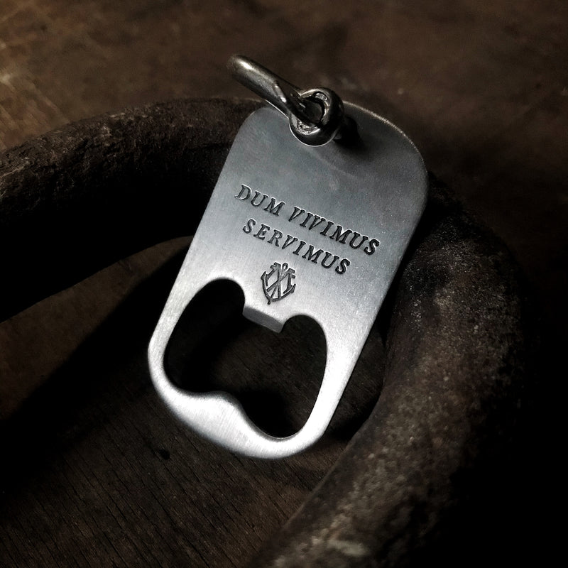 "DUM VIVIMUS SERVIMUS ""While I Live, I Serve"" - Bottle Opener Keychain"