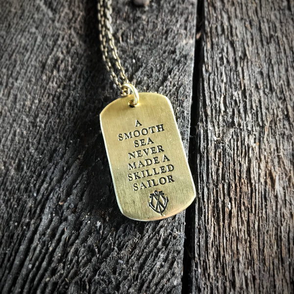 SKILLED SAILOR - Brass Tag Necklace