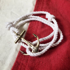 Brass Maritime Anchor - Nautical Rope