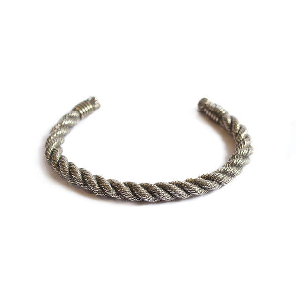 Twisted Rope Cuff - Silver - Maritime Supply Co