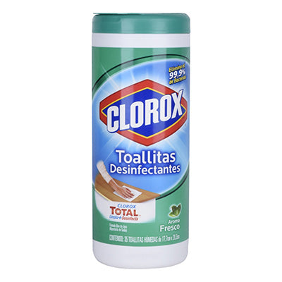 Toallas desinfectantes de Clorox aroma fresco 35 Wipes