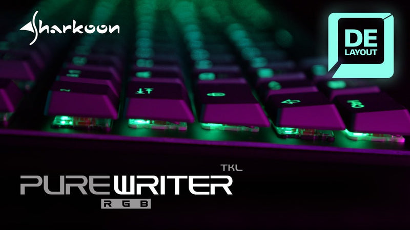 Teclado Sharkoon Inalambrico PureWriter TKL RGB RED