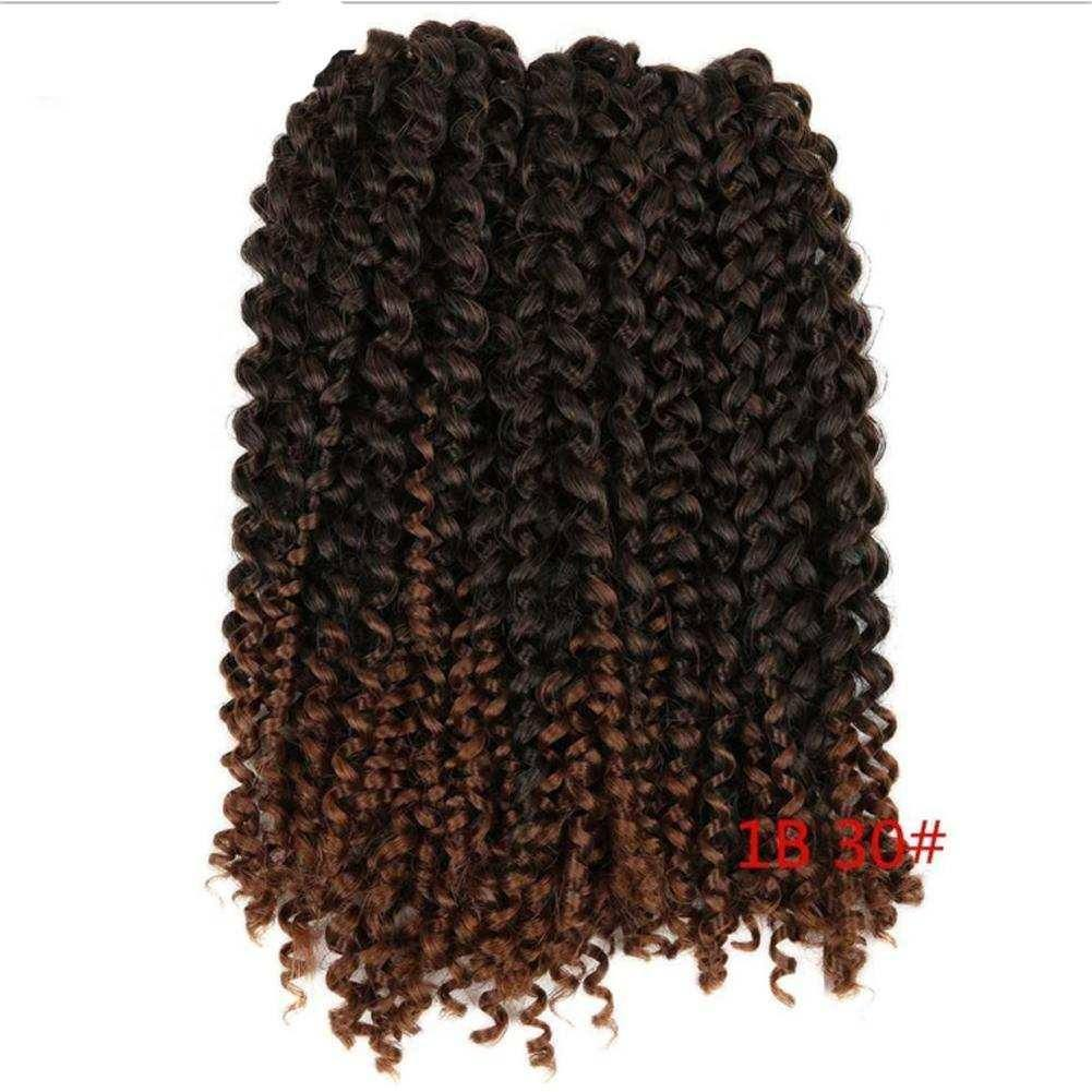 Wignee 3Pcs/Lot Hair Extensions For Black Women Ombre Mixed  High Temperature Synthetic Crochet Twist Braiding Hair Bundles Wigs