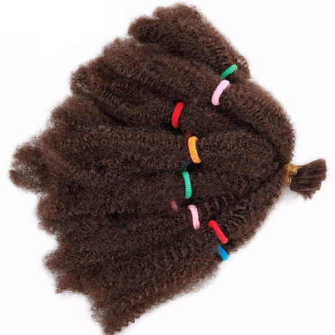 "Wignee Kinky Twist Synthetic Hair Extensions For Black Women 12""Afro Kinky Bulk Black/Brown Crochet Braiding Twist Hair Bundles"
