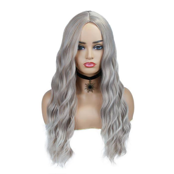 wignee middle part  Synthetic hair  non lace wig 24 inches multiple color Daily wig