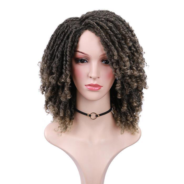 wignee short  Synthetic hair  non lace wig 6 inches 27# Afro Curl Daily wi