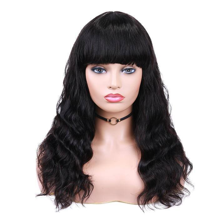 wignee middle part  human hair 4*4 lace part wig 10-20 inches multiple color Body Wave party wig