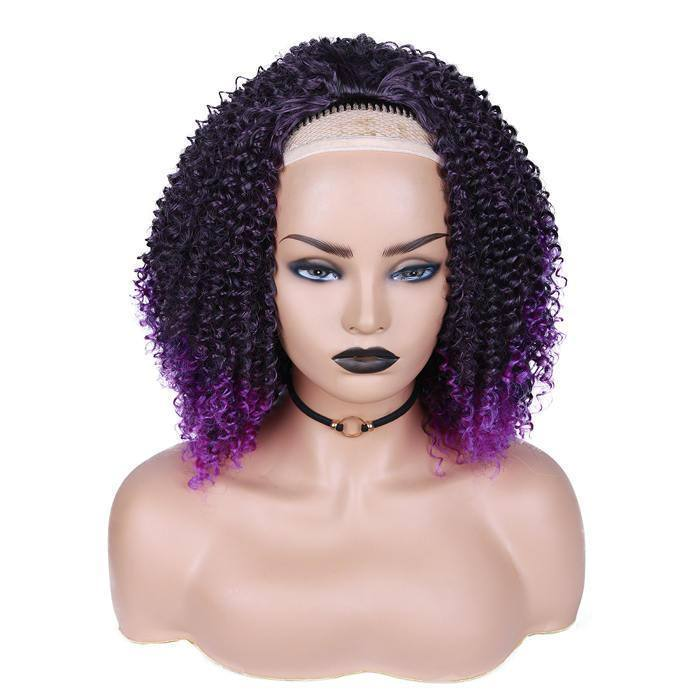 wignee bob  Synthetic hair  non lace wig 10 inches multiple color Afro Curl Daily wig