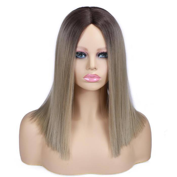 wignee center part  Synthetic hair  non lace wig  inches multiple color Straight Daily wig
