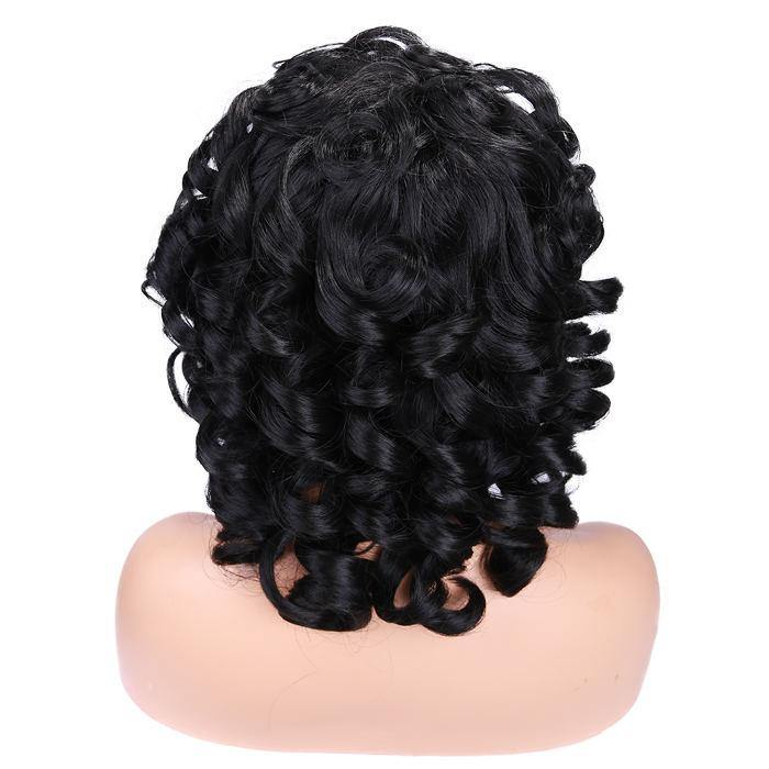 wignee fringe/bangs  Synthetic hair  non lace wig 12 inches multiple color Afro Curl party wig
