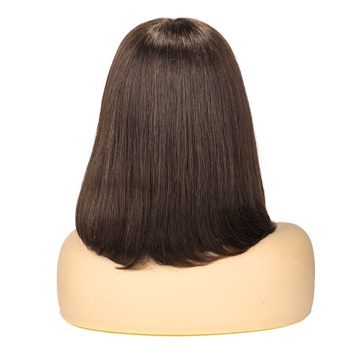 wignee middle part  human hair 4*4 non lace wig 10-18 inches multiple color Straight Daily wig