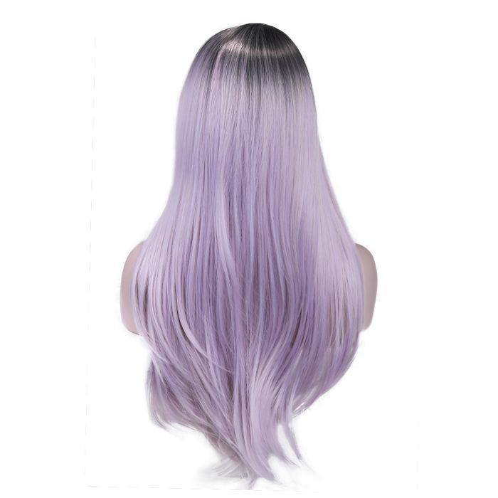 wignee fringe/bangs  Synthetic hair  non lace wig  inches Pink Body Wave Daily wig