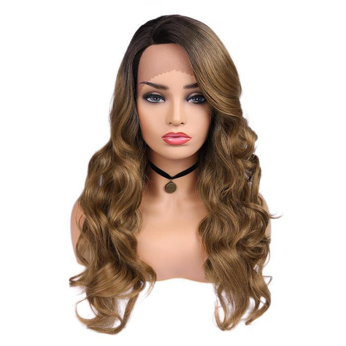 wignee fringe/bangs  Synthetic hair 2*4 L part wig 20-26 inches multiple color Body Wave Daily wig