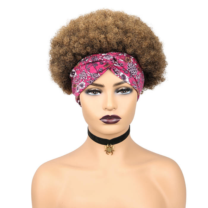 wignee short  human hair  non lace wig 4 inches multiple color Kinky Curly party wig