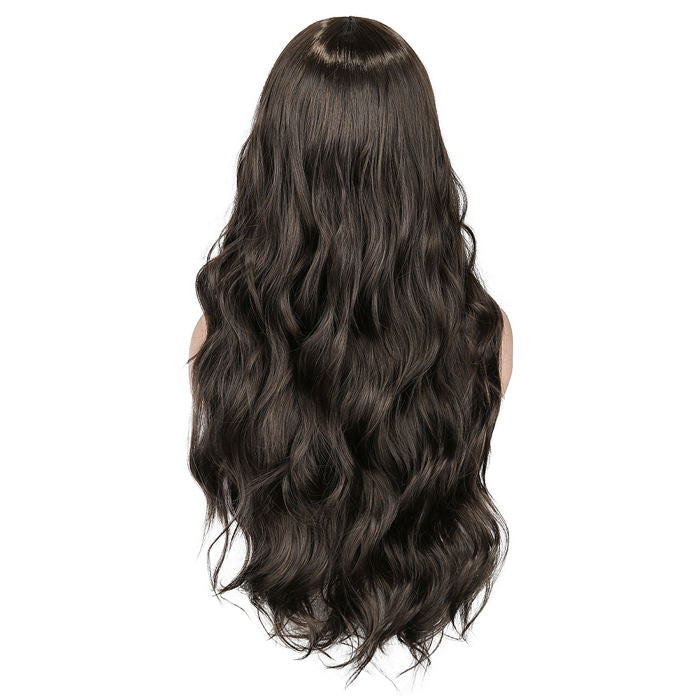 wignee middle part  Synthetic hair  non lace wig 26 inches natural black Straight Daily wig