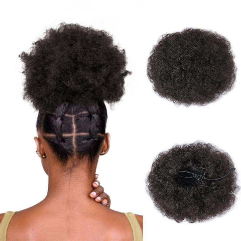 Wignee High Temperature Synthetic Fiber Curly Chignon Bun Hairpiece Elastic Fake Classic Hair Extensions For Black/White Women WIGS bella-hair-wig.myshopify.com