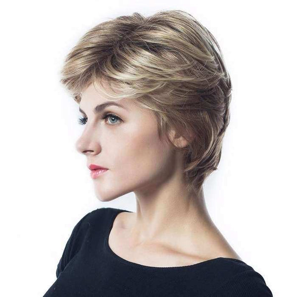 Wignee Short Hair Synthetic Wigs For Black/White Women High Density Mixed Brown/Grey Straight Hair Cosplay Short Wigs synthetic wigs WIGS bella-hair-wig.myshopify.com