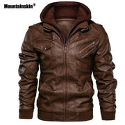Mountainskin 2019 New Men's Leather Jackets Autumn Casual Motorcycle PU Jacket Biker Leather Coats Brand Clothing EU Size SA722-Felligo