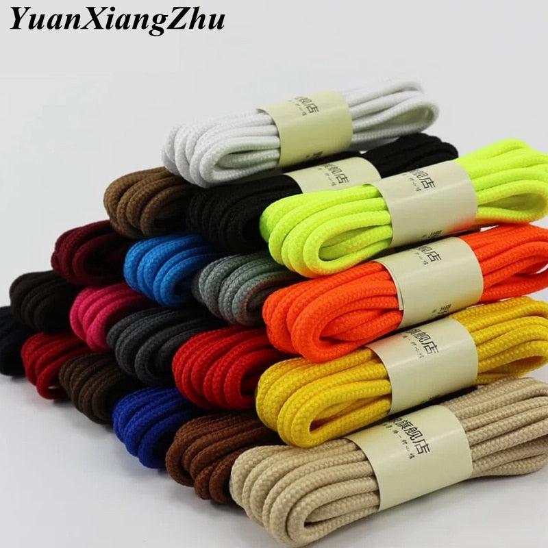 1Pair Round Solid Shoelaces Top Quality Polyester Shoes Lace-Felligo
