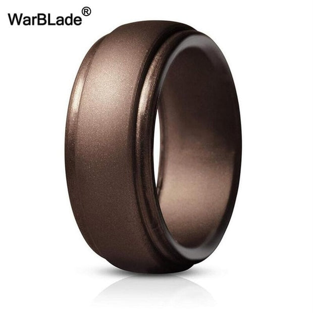 FDA Silicone Rings Men Wedding Rubber Bands Hypoallergenic Flexible Antibacterial Silicone Finger Ring-Felligo