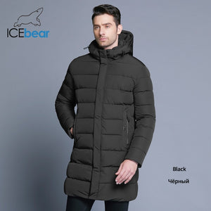 ICEbear 2019 Winter Jacket Men Hat Detachable Warm Coat Causal Parkas Cotton Padded Winter Jacket Men Clothing MWD18821D-Felligo